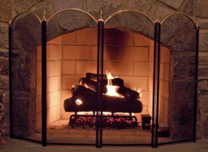 fireplace screen - chimneys.com